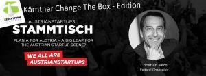 39. Change The Box Treffen - AustrianStartups Stammtisch mit Christian Kern